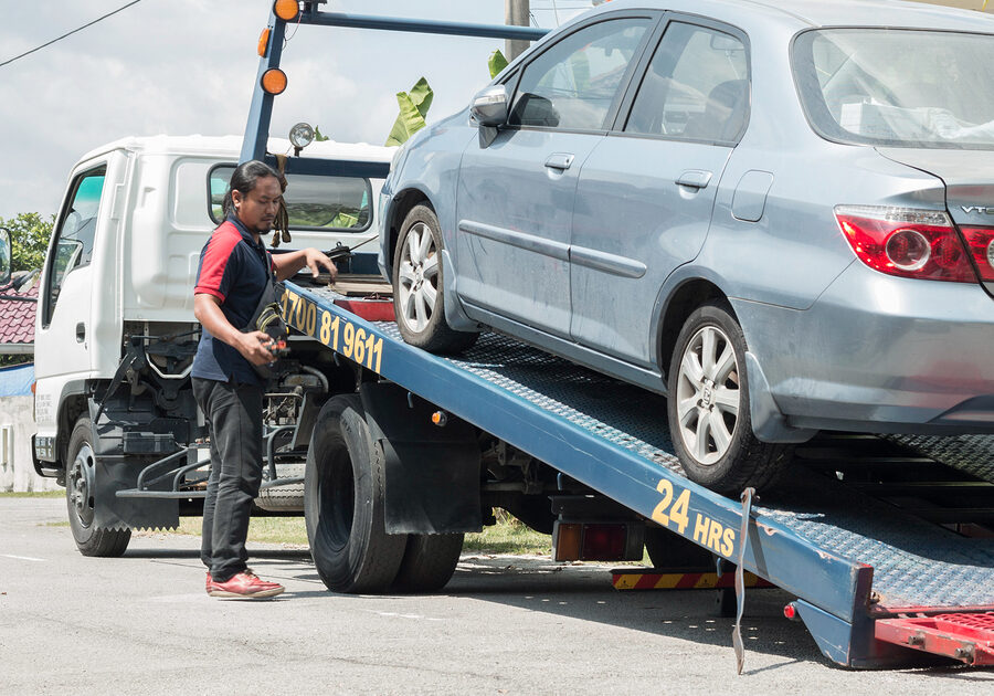 This is a picture of a tow service.